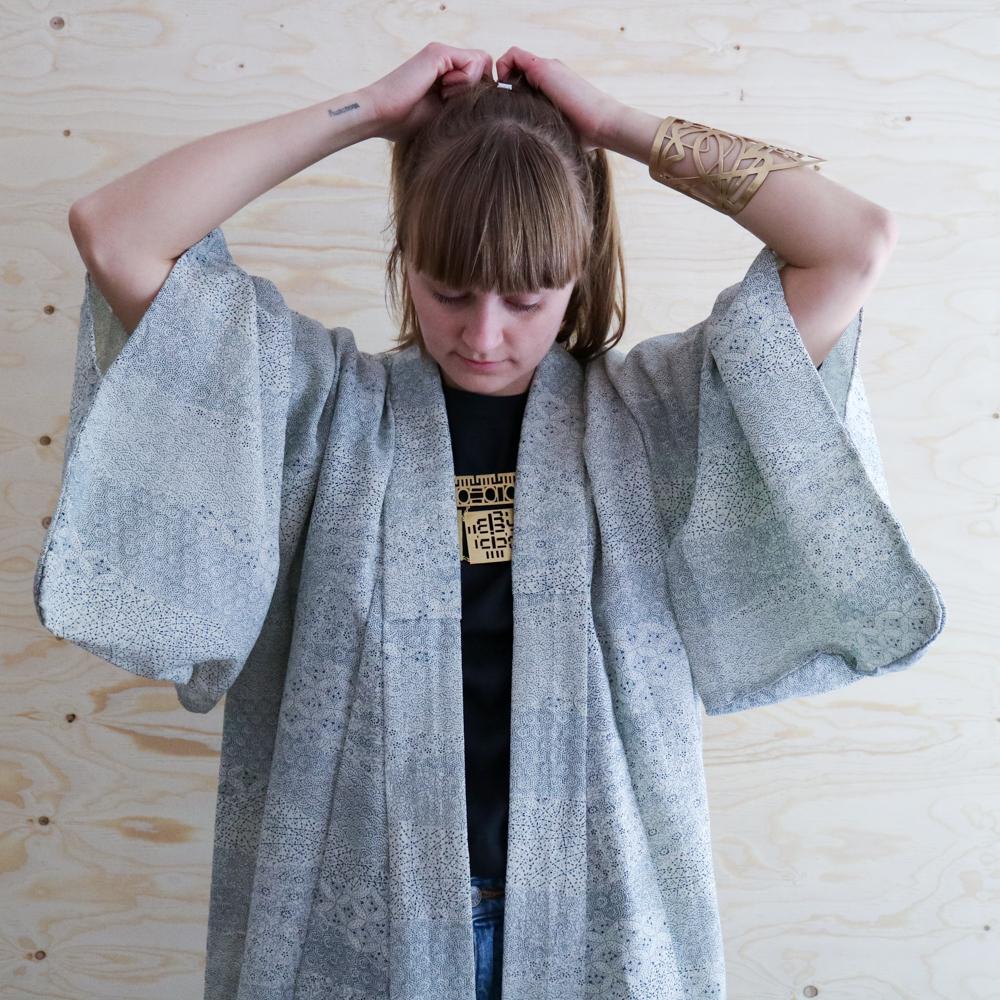 Dagens slow fashion-outfit – kimono och jeans