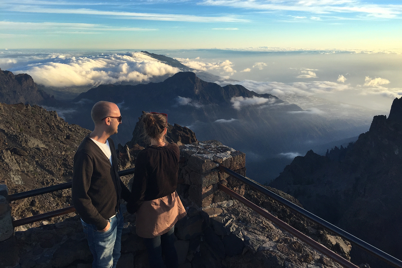 Olof och Anna på berg