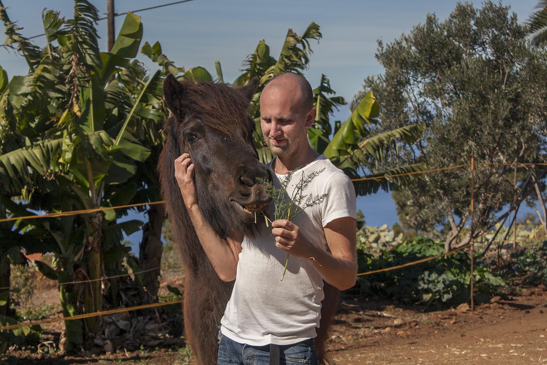 Olof och häst