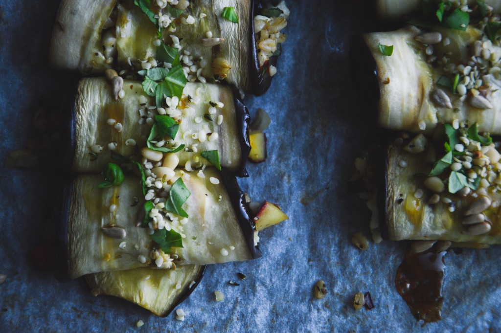Autumn Aubergine Rolls á la Green Kitchen Stories