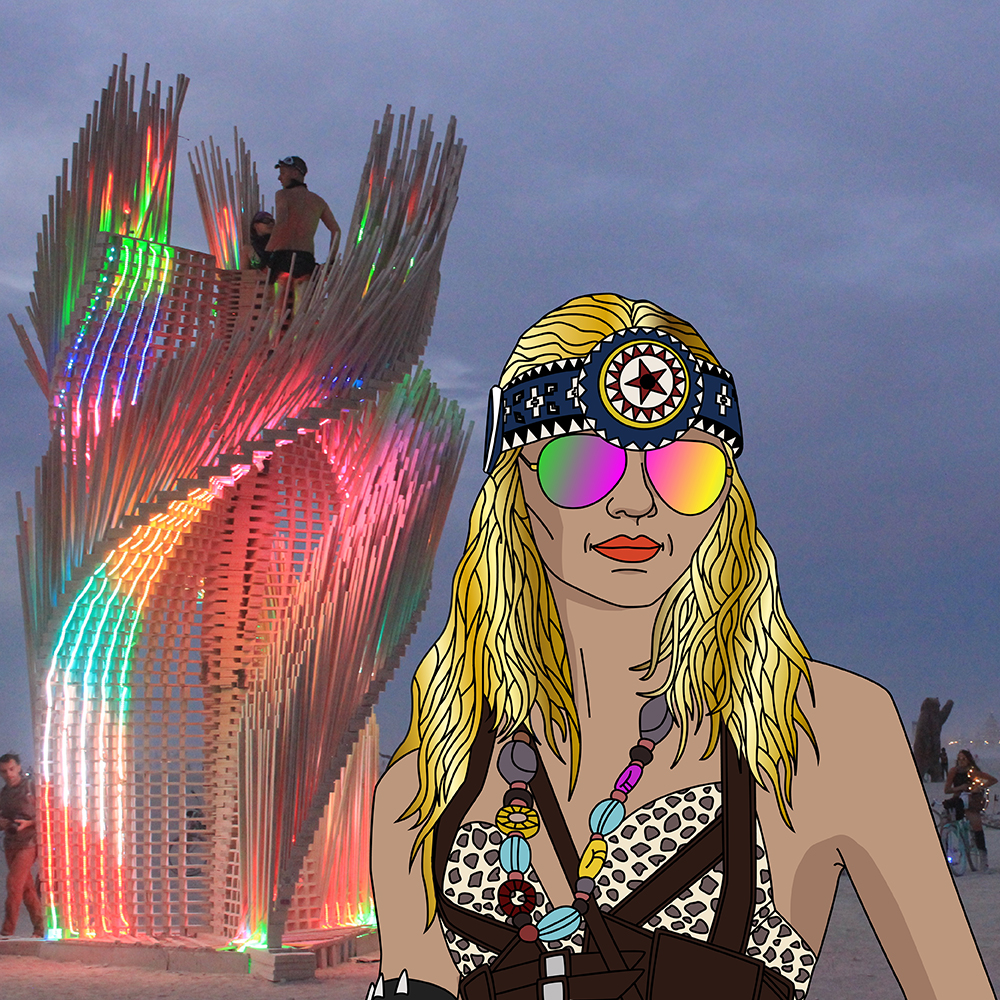 Burning Man och mötet med magiska Isadora Wronski