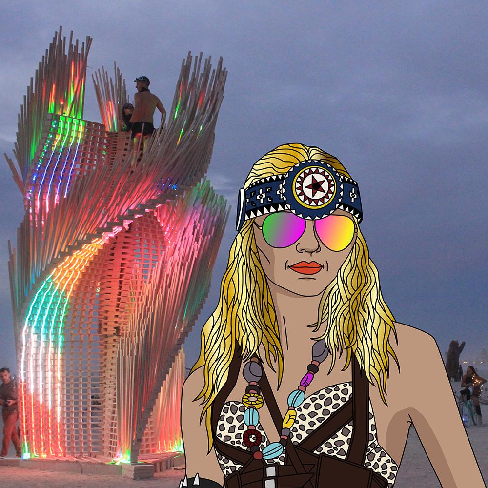 Burning Man och mötet med magiska Isadora Wronski